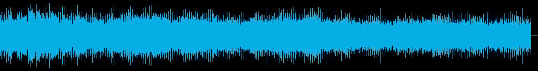 左右に少しずつ異なる安定したペース...の再生済みの波形