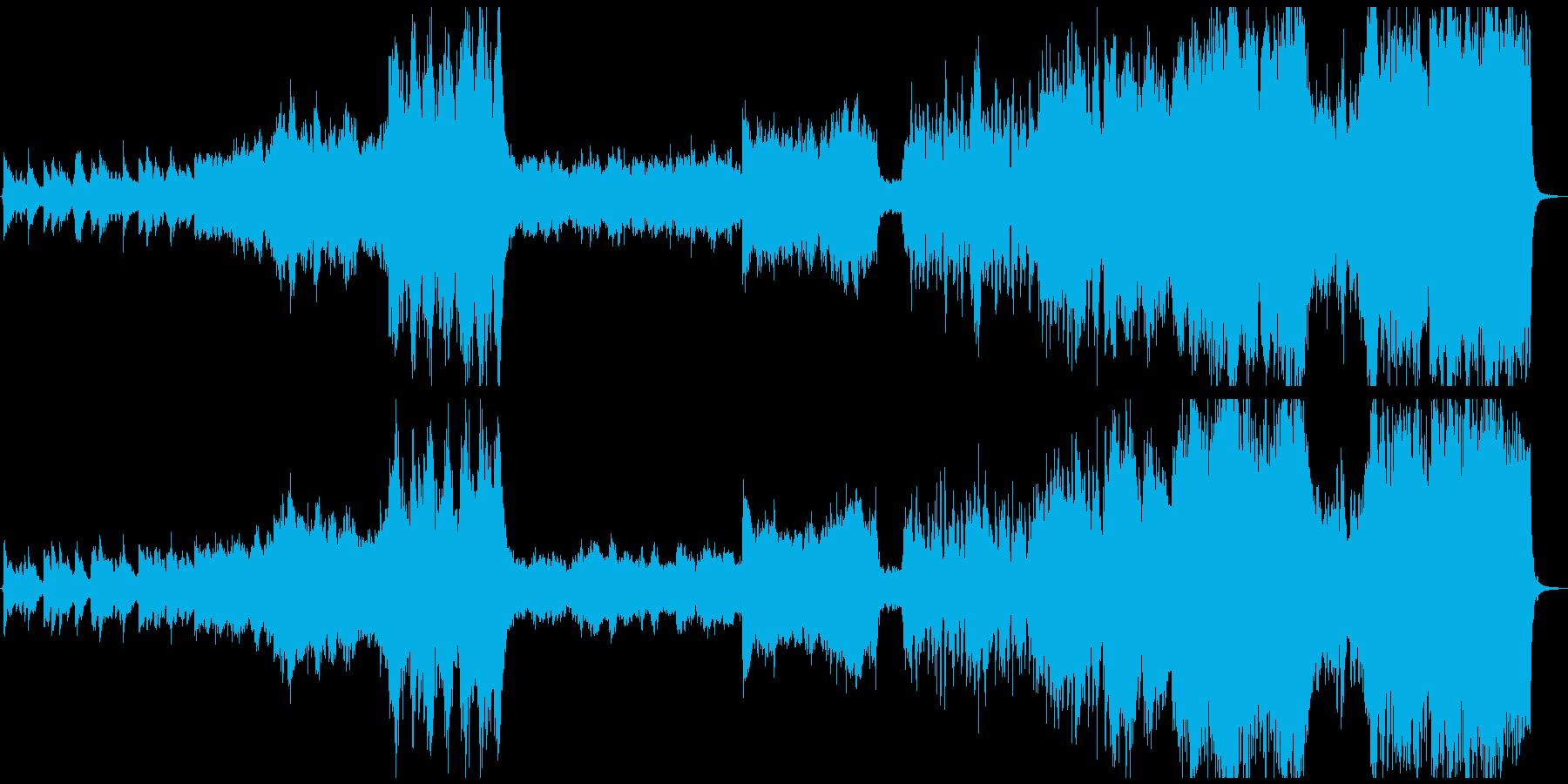 壮大ファンタジーのオープニング曲の再生済みの波形