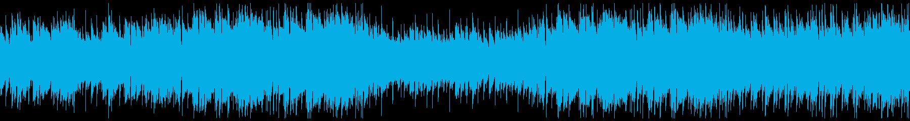 映像・夕暮れの海・ポップ・ループの再生済みの波形