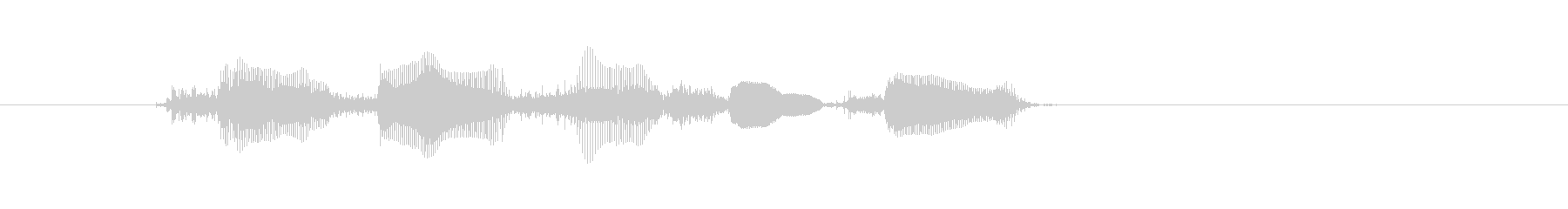 Voice is being delivered's unreproduced waveform