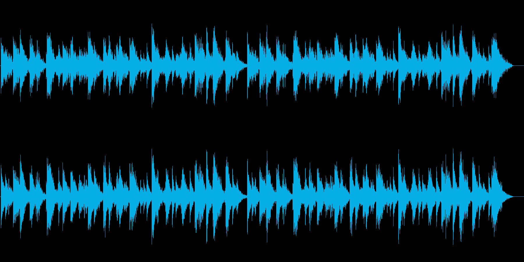 落着きのある幻想的なサイエンス風サウンドの再生済みの波形