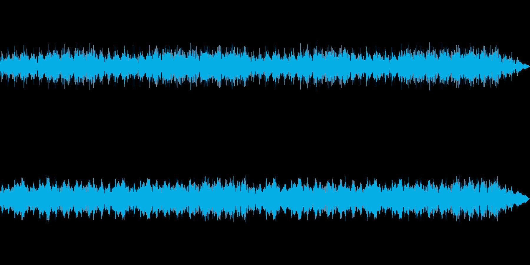 オルゴールの音色が落ち着きを与えるBGMの再生済みの波形