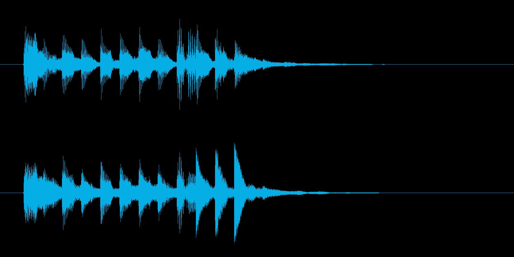 近未来的なビートが可愛いテクノポップの再生済みの波形