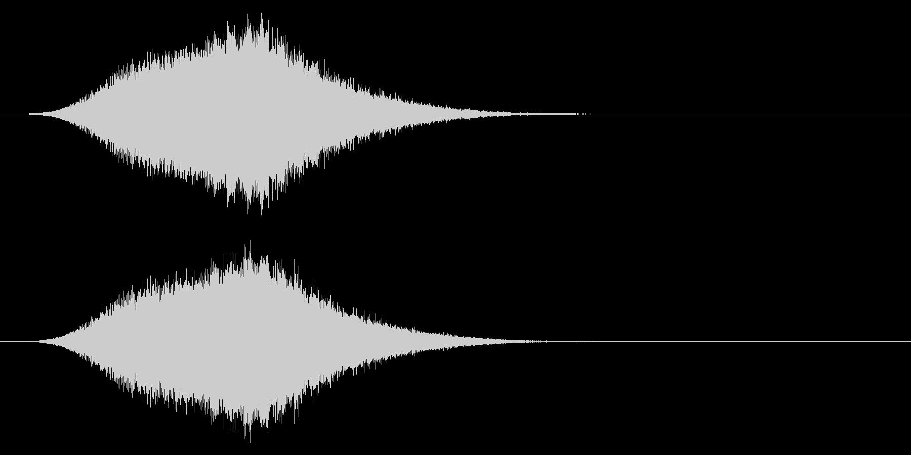 シュー/キラキラ/回復の未再生の波形