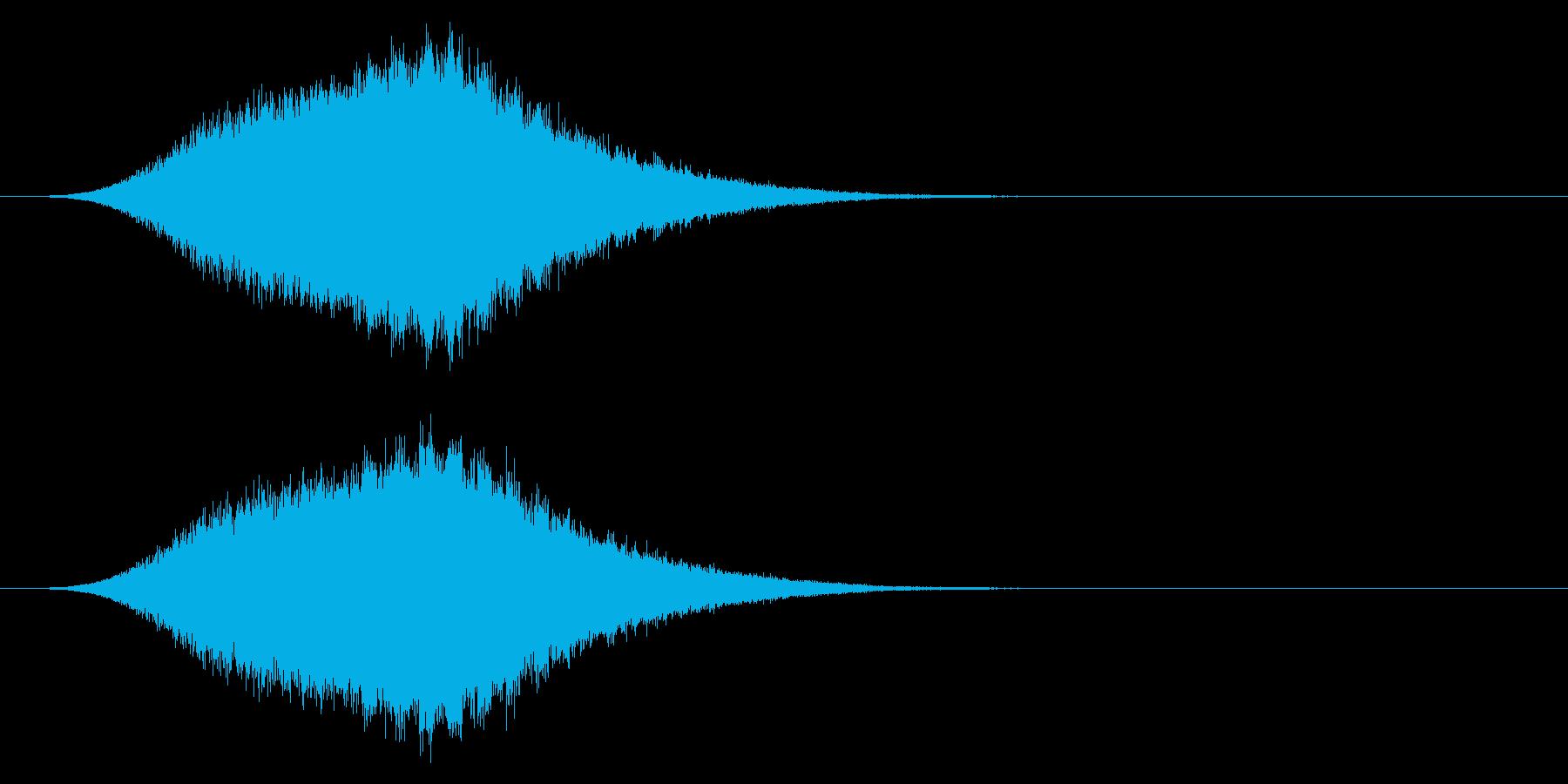 シュー/キラキラ/回復の再生済みの波形
