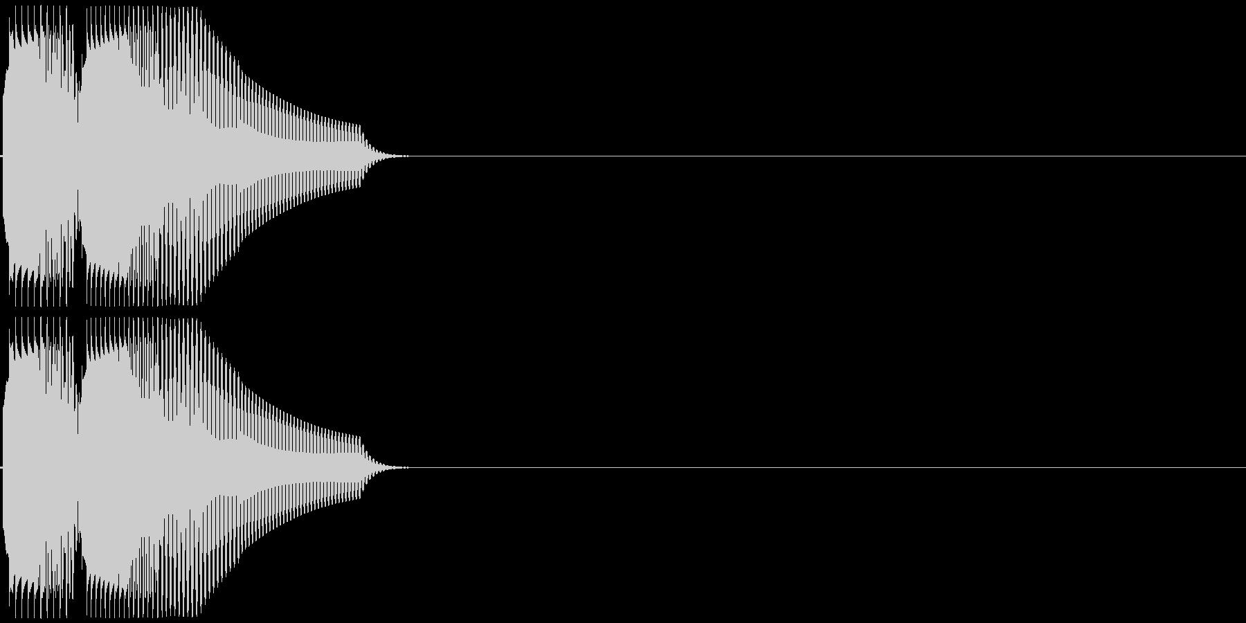 ポロリ(低音系、電子音)の未再生の波形