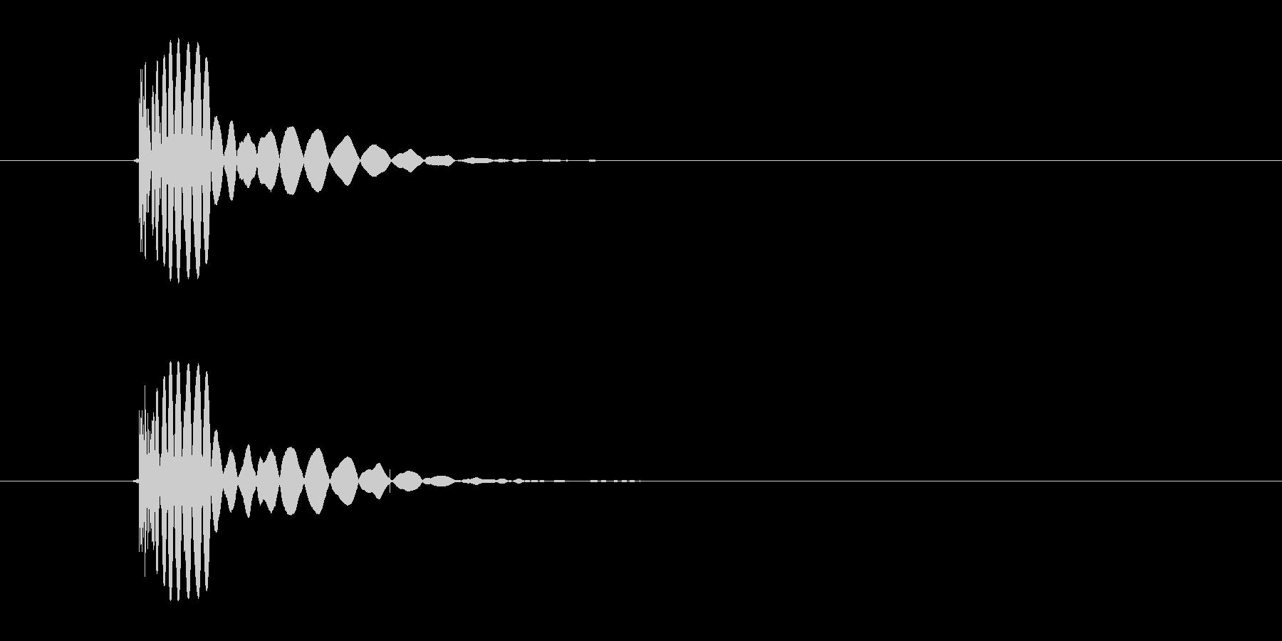 ヒット音(蹴る-5 打撃のインパクト音)の未再生の波形