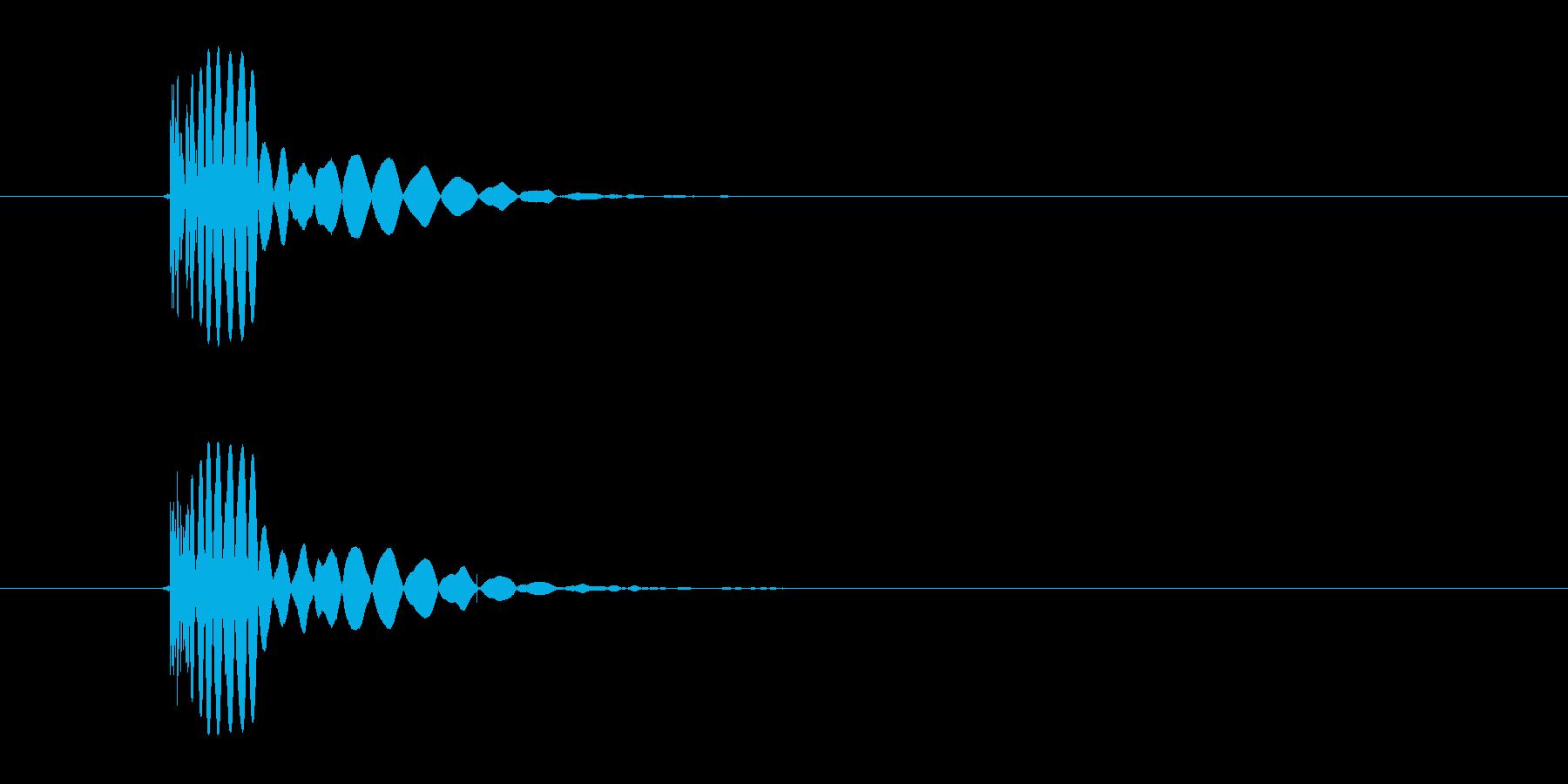 ヒット音(蹴る-5 打撃のインパクト音)の再生済みの波形