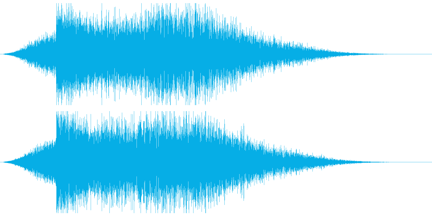 遠くから聞こえる原子爆発の再生済みの波形