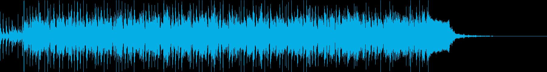 スラップベースが特徴的なロックの再生済みの波形
