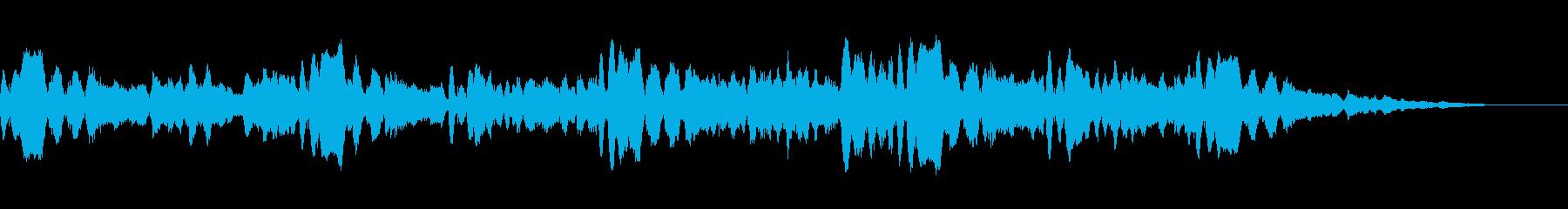 ほのぼのした日常の風景のBGMの再生済みの波形