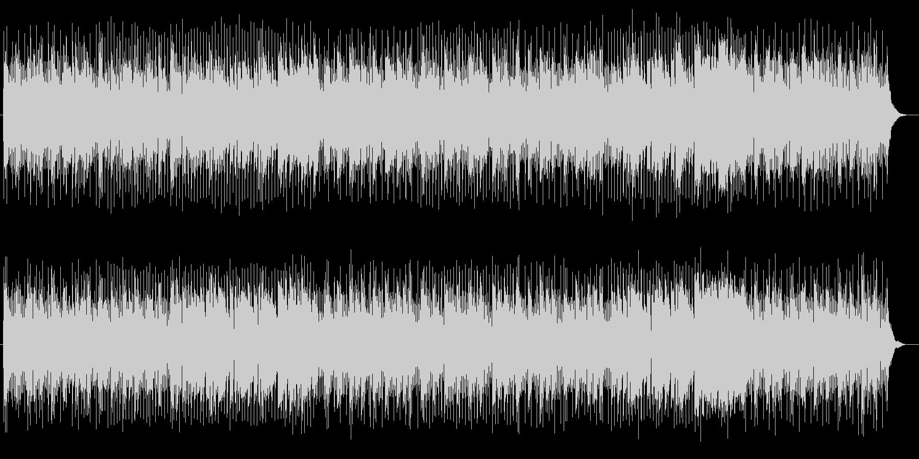 エレキギターとピアノ楽しいポップサウンドの未再生の波形