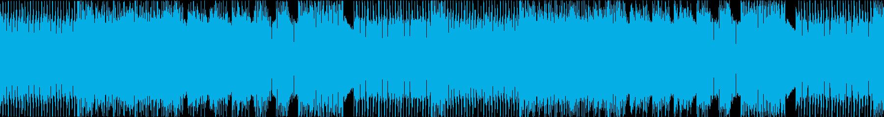 ハイテンポで攻撃的なメタルインストループの再生済みの波形