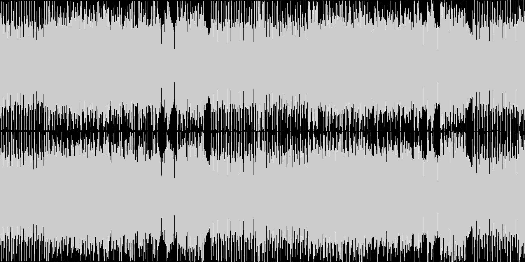 ハイテンポで攻撃的なメタルインストループの未再生の波形