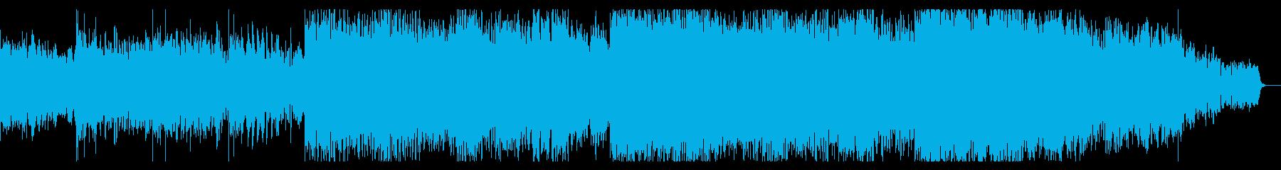 デジタルパンクなIDMテクスチャの再生済みの波形
