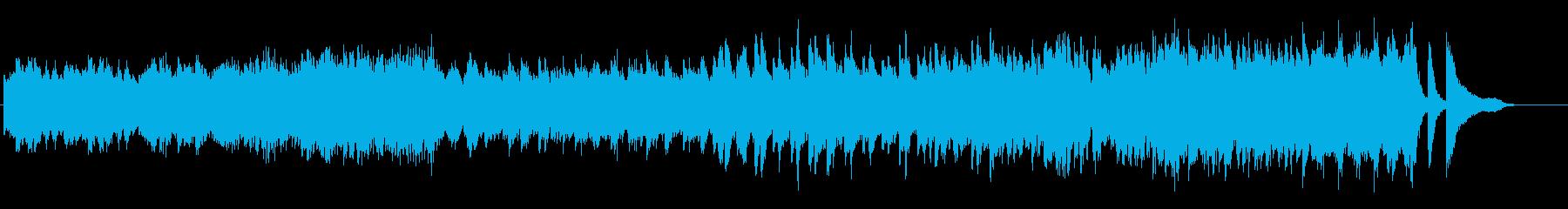 情熱的でハイテンポなショパン風のピアノ曲の再生済みの波形
