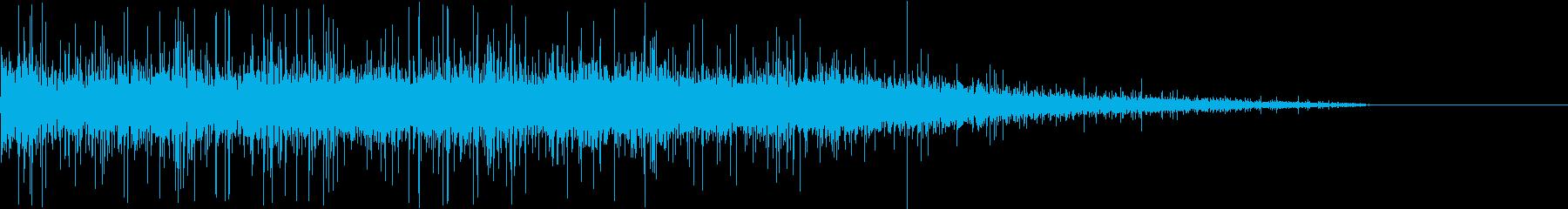 【生録音】ジューっと食材が焼ける音 5の再生済みの波形