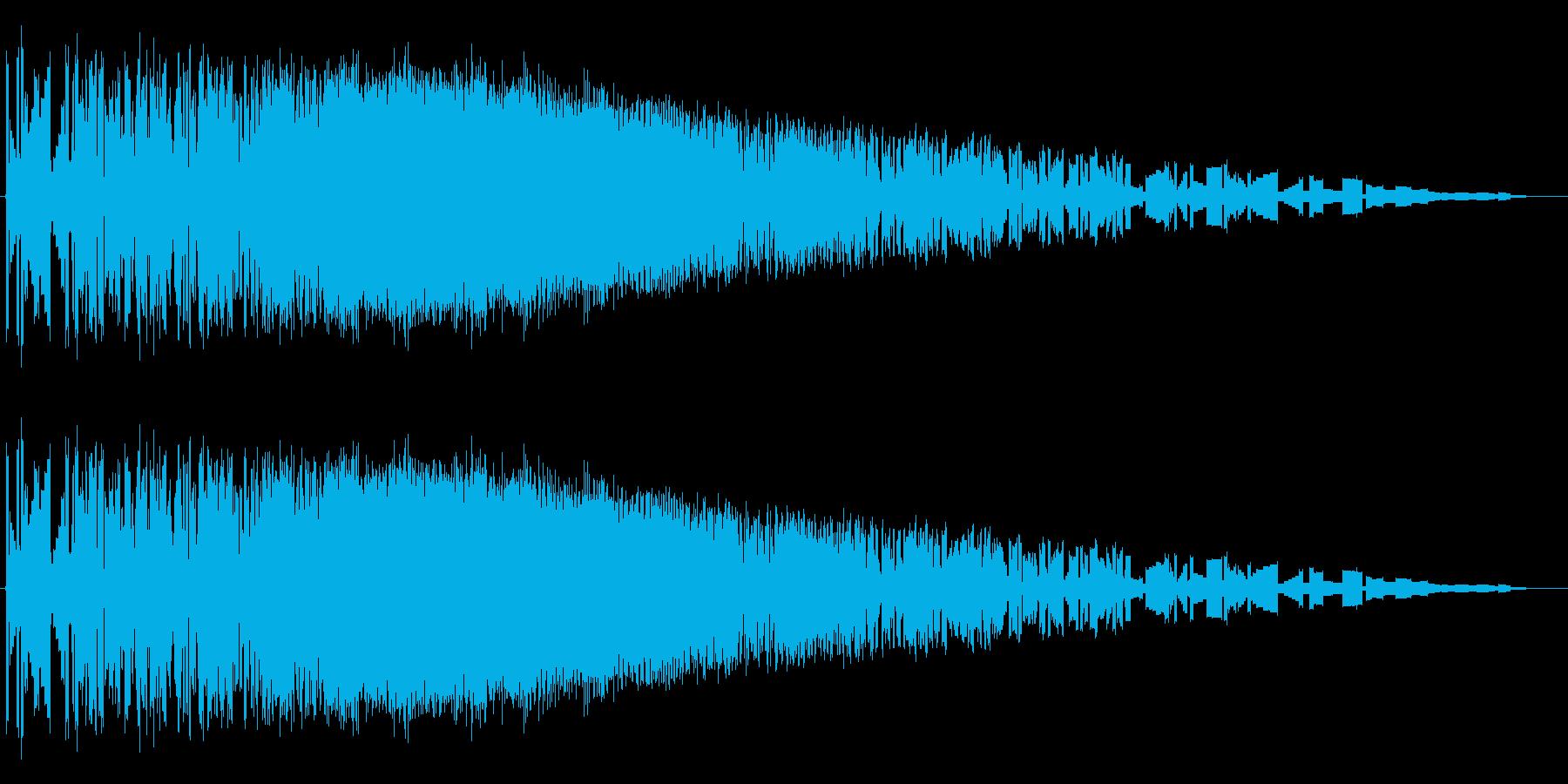 レトロゲーム風魔法・炎系3の再生済みの波形