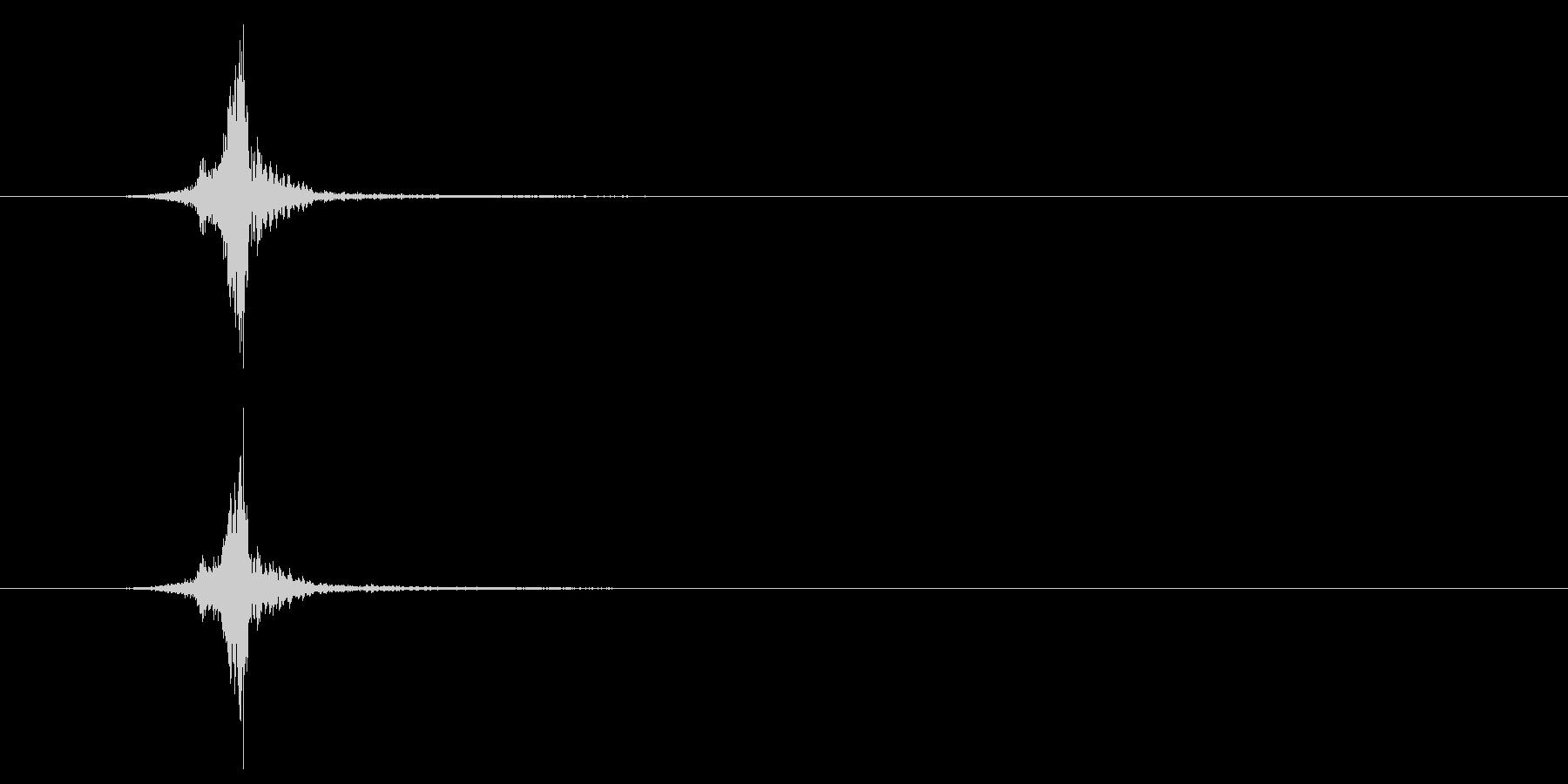 メニューボタンのクリック-スイッチの未再生の波形