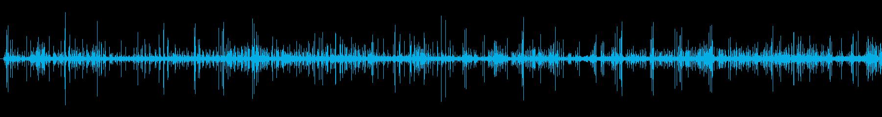 手持ち花火の音 パチパチパチパチの再生済みの波形