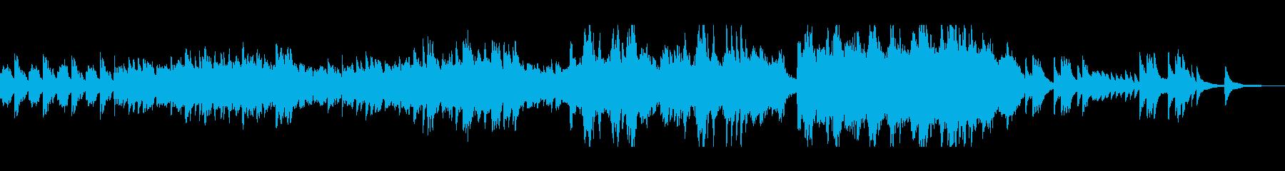 ストリングスとピアノの幻想的な旋律の再生済みの波形