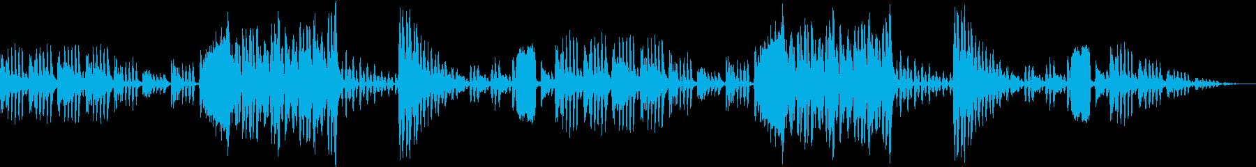 オーケストラの楽器が奏でるループBGMの再生済みの波形