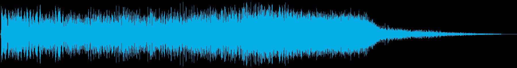 ロケット発射(噴射から発進まで)の再生済みの波形