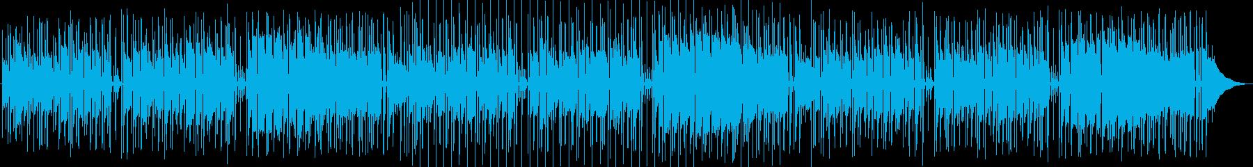 アニメ劇伴風のお洒落ポップスBGMの再生済みの波形