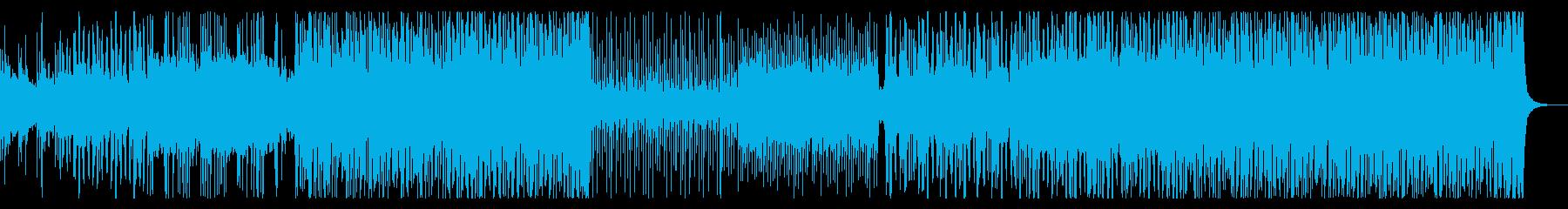 太鼓や和楽器を強調した和風アシッドテクノの再生済みの波形