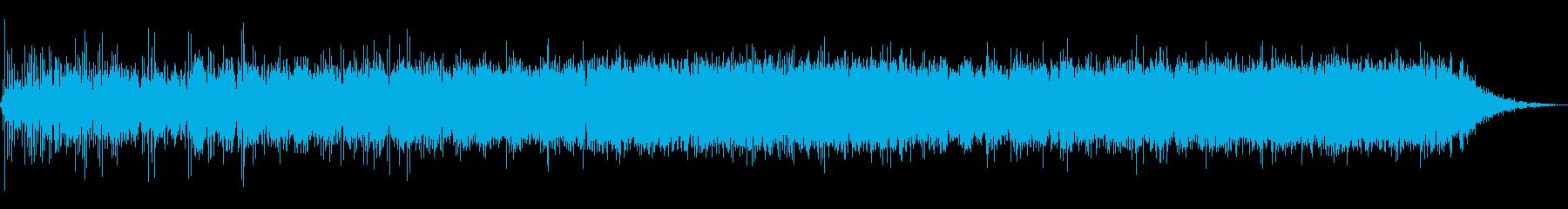 ミステリアスな電子音楽の再生済みの波形