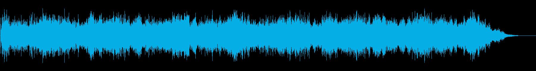 ノイジーで不気味な背景音(ホラーなどに)の再生済みの波形