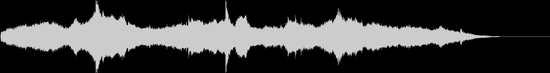 宇宙的なアンビエントサウンド+ピアノ。の未再生の波形