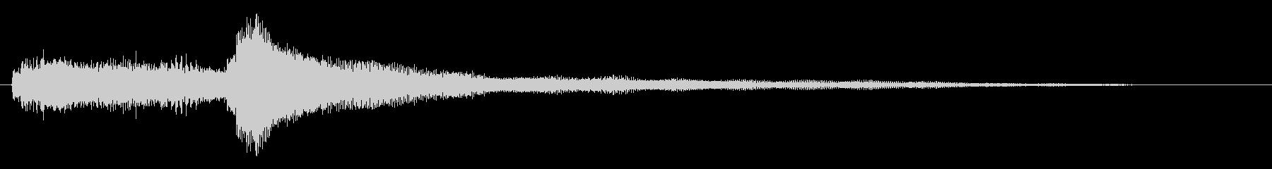 ギターによる穏やかなサウンドロゴの未再生の波形