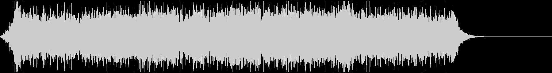 サイバーパンク風エピック&エレクトロ曲の未再生の波形