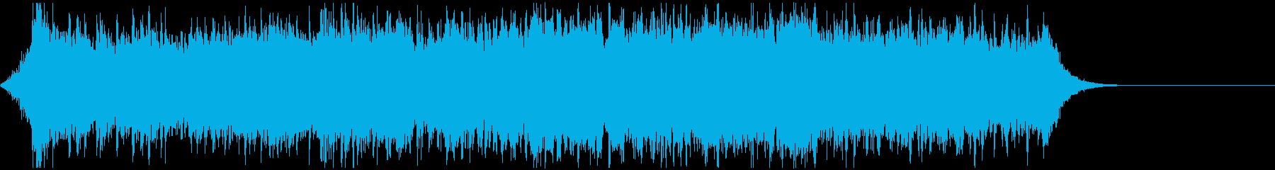サイバーパンク風エピック&エレクトロ曲の再生済みの波形