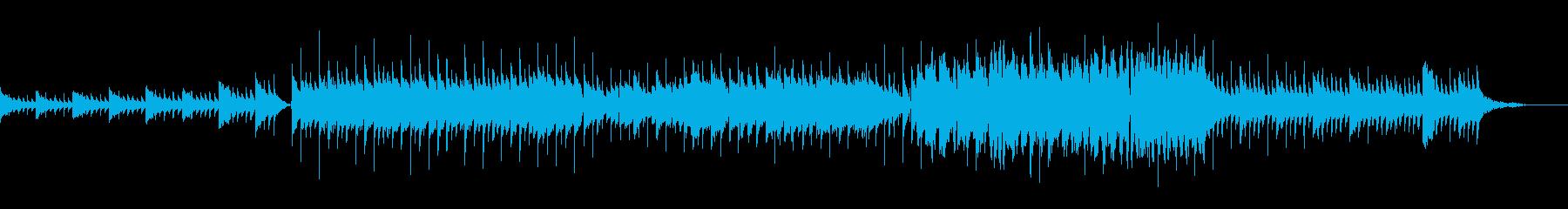星空をイメージしたピアノとベルのBGMの再生済みの波形