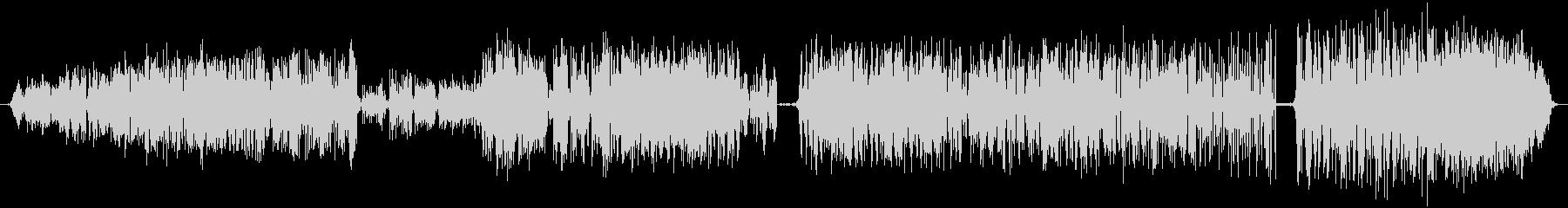 テープチャッターの巻き戻し:開始、...の未再生の波形