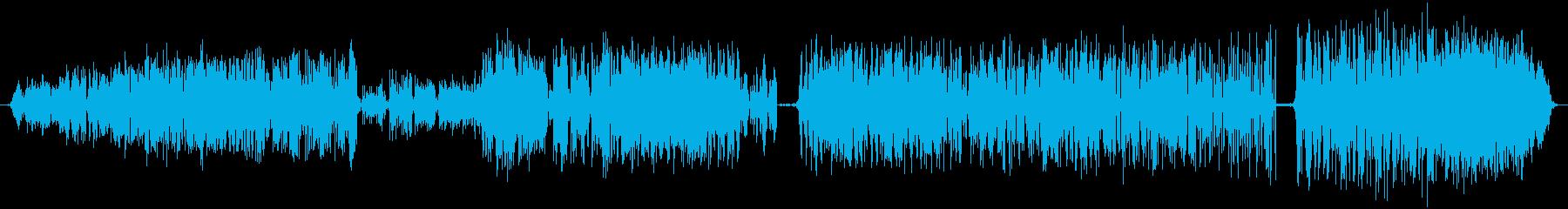 テープチャッターの巻き戻し:開始、...の再生済みの波形