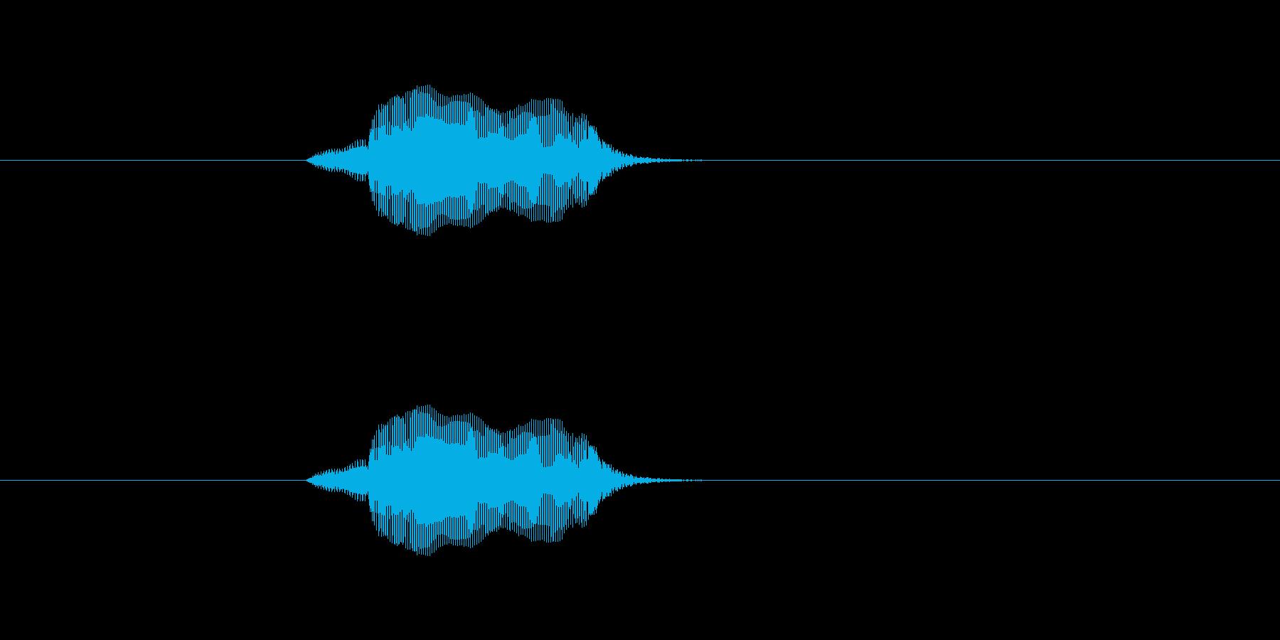 も〜の再生済みの波形