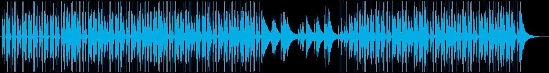 ほのぼのとした雰囲気のウクレレの再生済みの波形