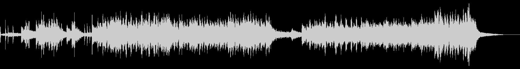 ハッスルフリーフォームニューエイジジャズの未再生の波形