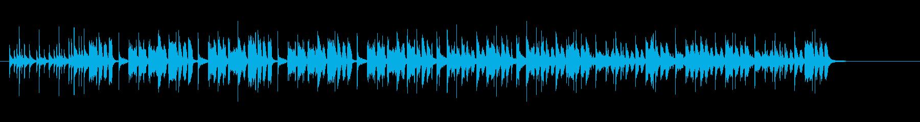 コーマーシャルソング風わくわくポップの再生済みの波形