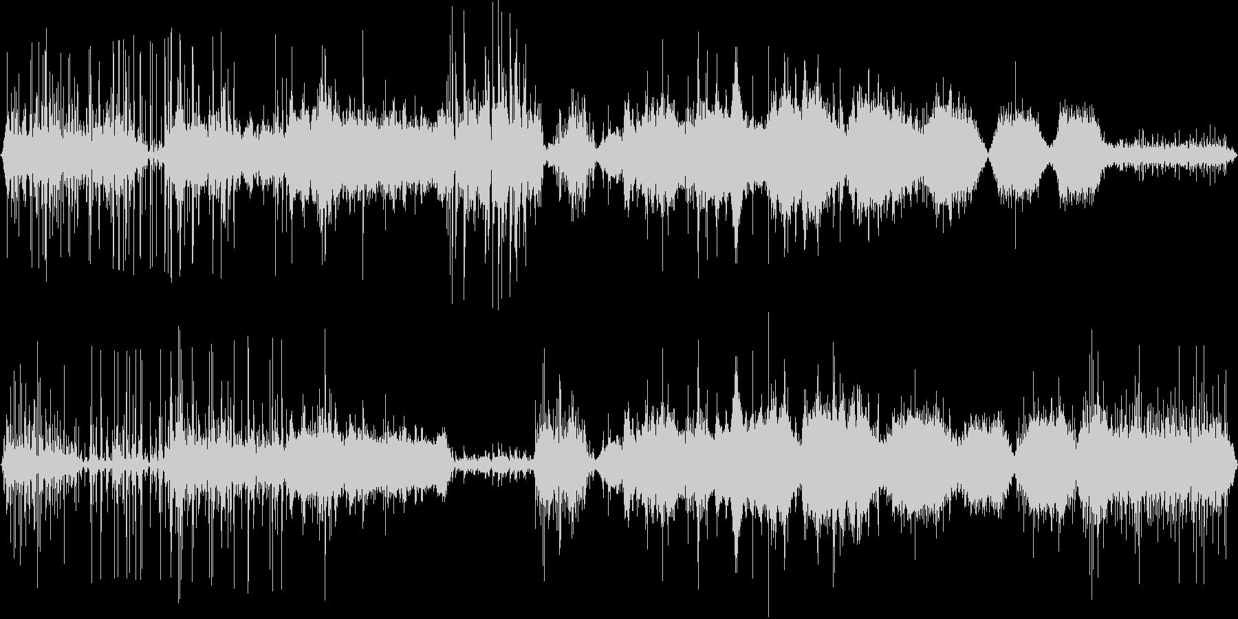 コポコポコポといった水中で聴こえる音の未再生の波形