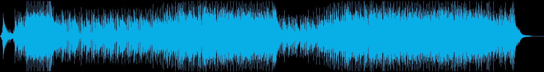 明るい爽やかで感動的なBGMの再生済みの波形