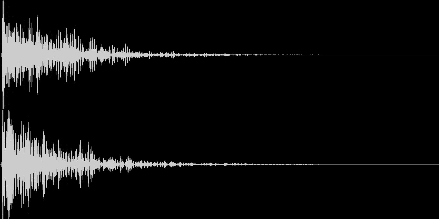 ダン!(重めのインパクト音・ロゴ表示等)の未再生の波形