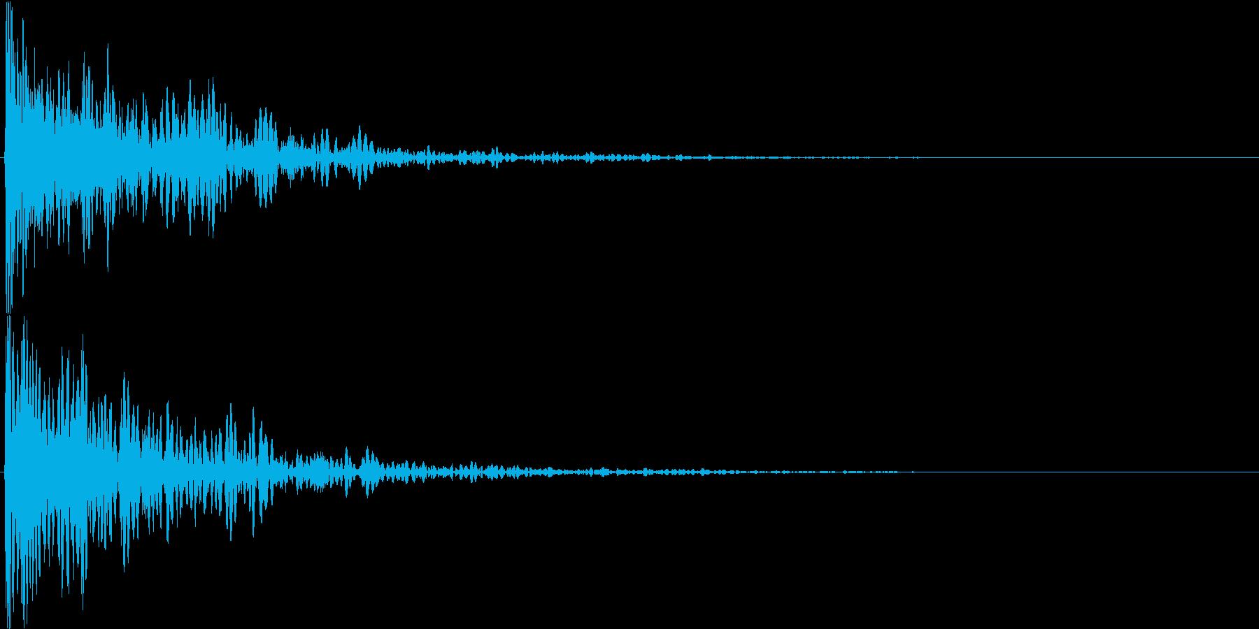 ダン!(重めのインパクト音・ロゴ表示等)の再生済みの波形