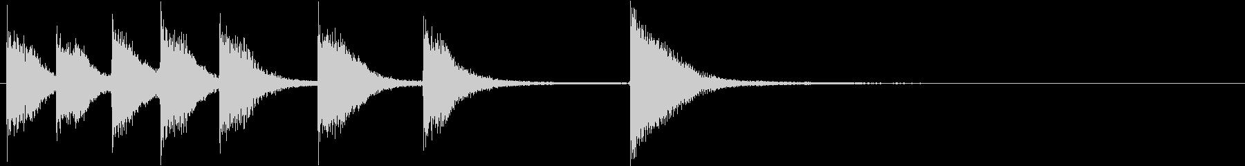 ピアノジングル 幼児向けアニメ系G-02の未再生の波形