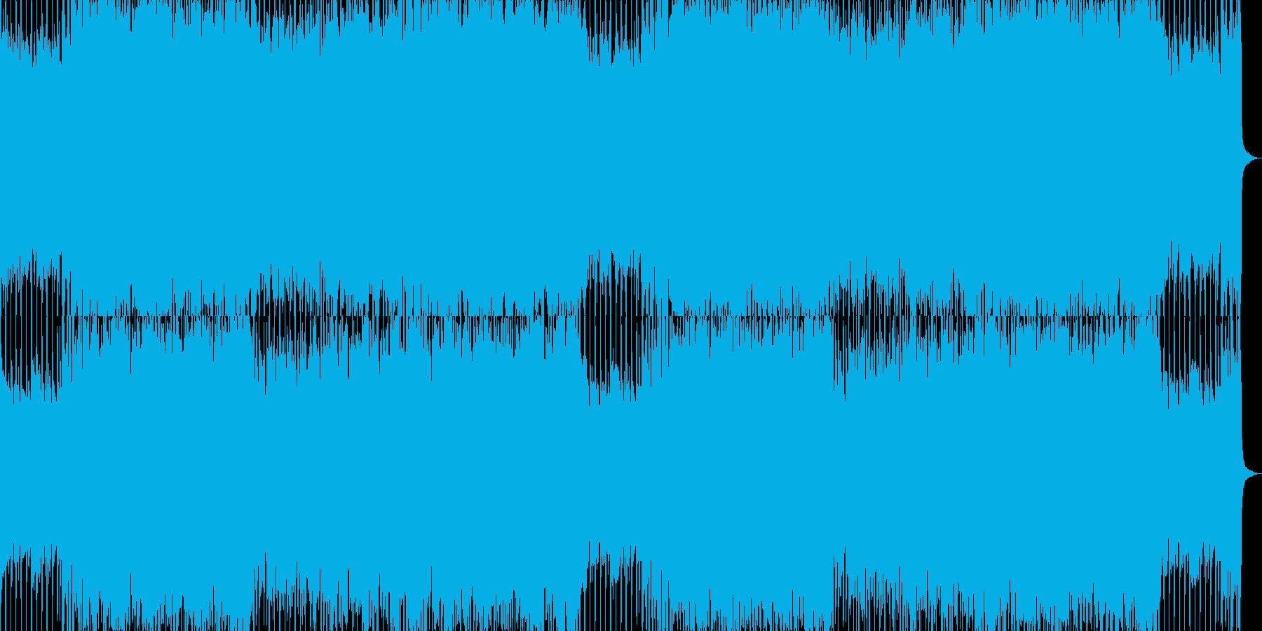 動画BGM爽やかなギターとカワイイ音の曲の再生済みの波形