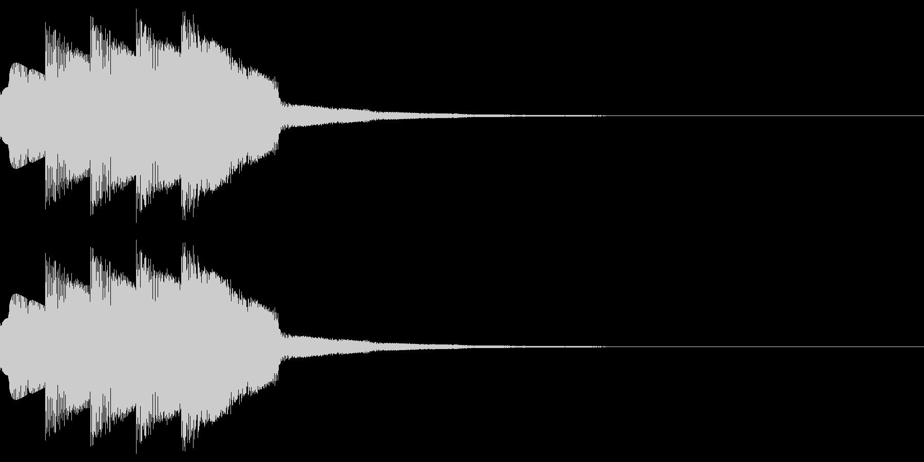 「決定」「選択」などのシステム効果音。の未再生の波形
