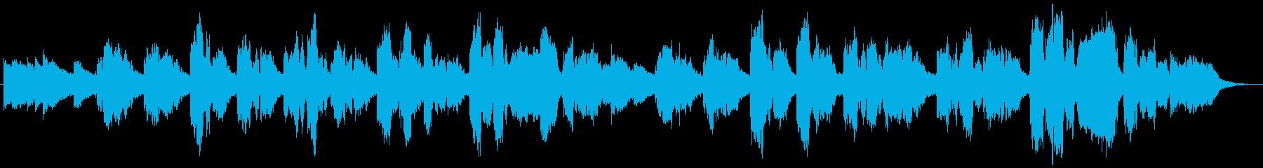 ソプラノコーラス原語のドイツ語での再生済みの波形